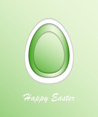 Happy Easter card. Beautiful easter egg. Vector illustration. Çizim