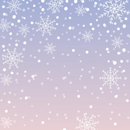 Schneeflockenmuster, Weihnachtshintergrund mit fallenden Schneeflocken. Vektor-Illustration. Vektorgrafik