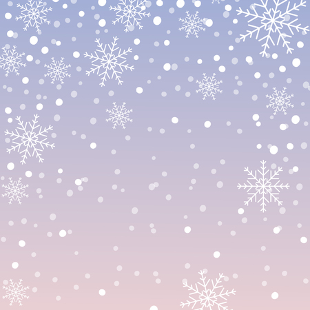 Snowflake pattern, Christmas background with falling snowflakes. Vector illustration. Vektorové ilustrace