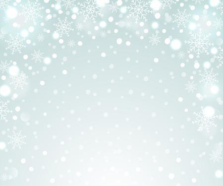 Season greetings background. Holiday backdrop snowflake pattern.  Vector illustration. Çizim