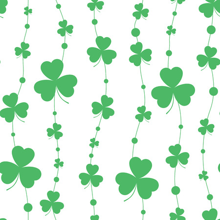 St. Patricks day background in green colors. Seamless pattern. vector illustration. Çizim