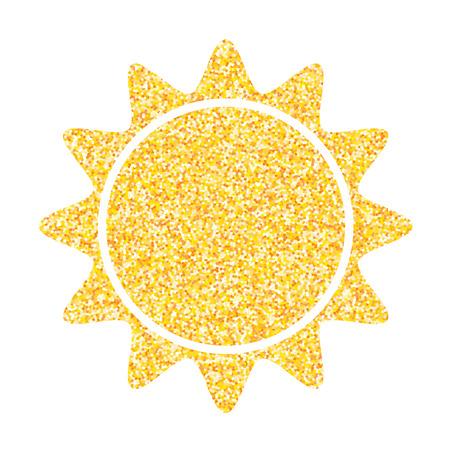 Sun Icon. Vector illustration. Sun icon isolated.