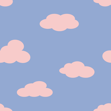 Clouds in the sky.  Vector illustration.