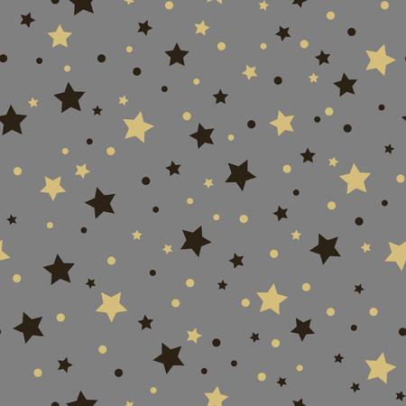 Holiday seamless pattern. Christmas star. Çizim