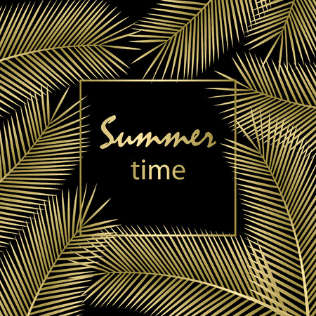 Summer time poster. Vector illustration.
