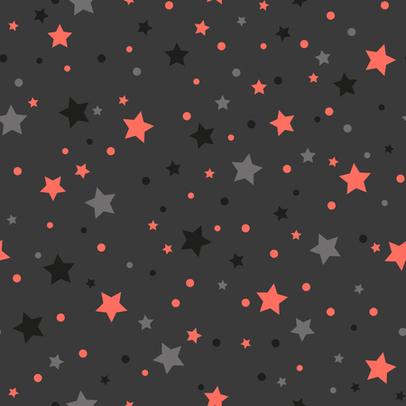 Holiday background, pattern with colored stars. Vector illustration. Çizim