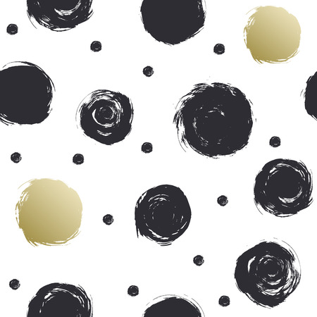 The black circles on a white background. Drawing by hand. Ink drawing.