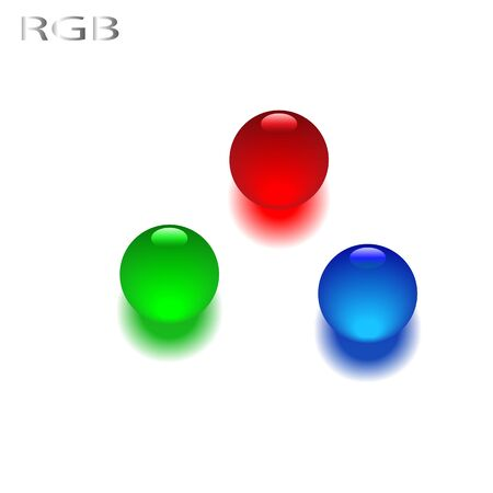 primary colors: the three additive primary colors, red, green and blue