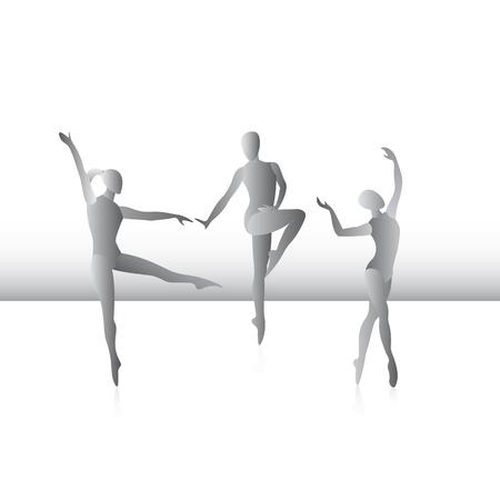 Ballroom dancing. A recreation. Vector illustration.