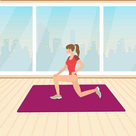 activity requiring physical effort, carried out especially to sustain or improve health and fitness, vector illustration