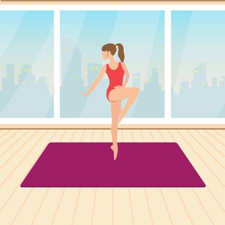 activiteiten waarvoor de fysieke inspanning, uitgevoerd in het bijzonder in stand te houden of te verbeteren gezondheid en fitness, vector illustratie Stock Illustratie