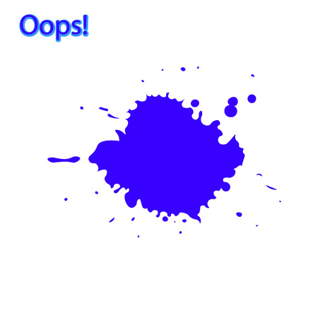 recognition of a mistake or minor accident, often as part of an apology, Oops, something went wrong, vector illustration