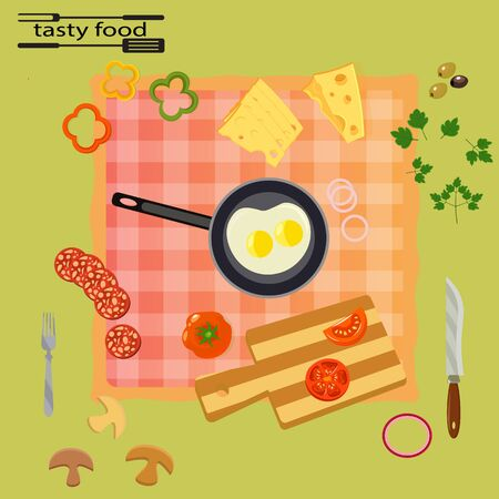 absorb: Tasty and healthy food for each day, vector illustration