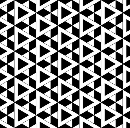 david star: Vector black and white seamless pattern david star ,Modern textile print with illusion, abstract texture, Symmetrical repeating background Illustration