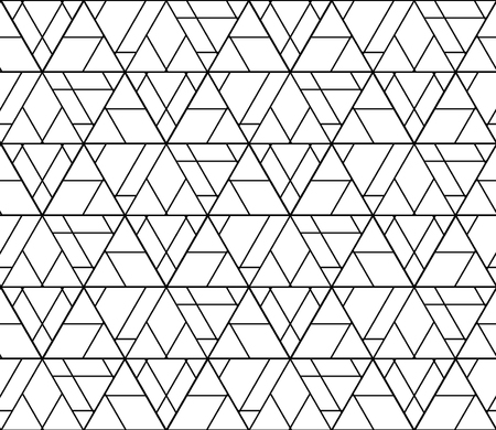 Vector black and white seamless abstract pattern ,Modern textile print with illusion, modern texture, Symmetrical repeating background