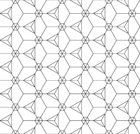 background textures: Vector black and white seamless pattern, Modern textile print with illusion, abstract textures, repeating background Symmetrical