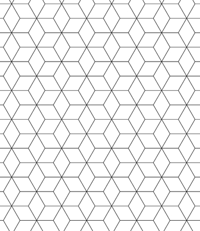 Vector modern seamless pattern sacred geometry, black and white print textile with illusion, abstract texture, monochrome fashion design