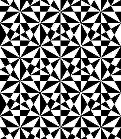 イリュー ジョン、抽象的なテクスチャ、白黒ファッション ・ デザイン ベクトル モダンなシームレス パターン、黒と白の印刷繊維