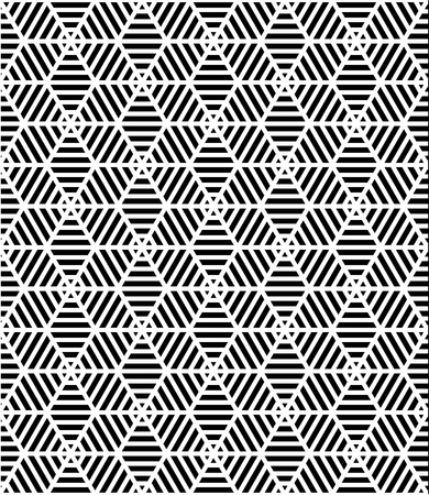 Vector Modern Seamless Pattern Trippy Black And White Textile