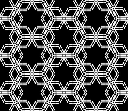 bed sheets: Vector modern seamless pattern stars, black and white textile print, stylish background, abstract texture, monochrome fashion design, bed sheets or pillow pattern Illustration