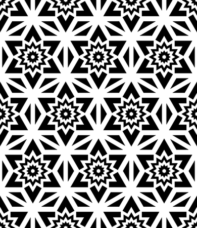 bed sheets: Vector modern seamless pattern floral, black and white textile print, stylish background, abstract texture, monochrome fashion design, bed sheets or pillow pattern Illustration