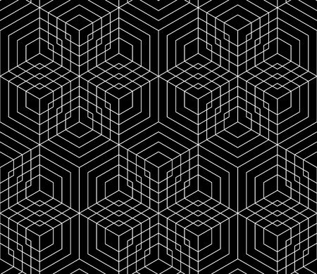 bed sheets: Vector modern seamless grid pattern, black and white textile print, stylish geometry background, abstract texture, monochrome fashion design, bed sheets or pillow pattern