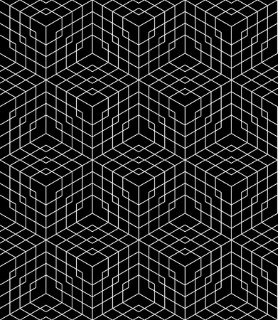 bed sheets: Vector modern seamless grid pattern, black and white textile print, stylish background, abstract texture, monochrome fashion design geometry, bed sheets or pillow pattern