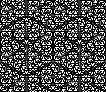 bed sheets: Vector modern seamless pattern sacred geometry, black and white textile print, stylish background, abstract texture, monochrome fashion design, bed sheets or pillow pattern Illustration
