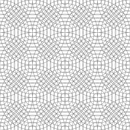 bed sheets: Vector modern seamless pattern circles, black and white textile print, stylish background, abstract texture, monochrome fashion design, bed sheets or pillow pattern
