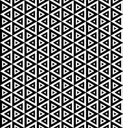 bed sheets: Vector modern seamless pattern triangles, black and white textile print, stylish background, abstract texture, monochrome fashion design, bed sheets or pillow pattern
