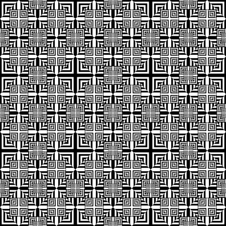 bed sheets: Vector modern seamless pattern squares, black and white textile print, stylish background, abstract texture, monochrome fashion design, bed sheets or pillow pattern Illustration