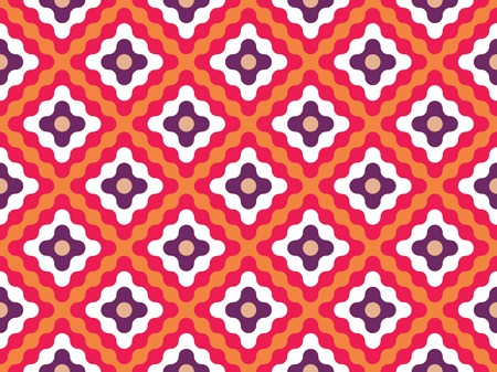 Vector modern seamless colorful geometry pattern flowers, color orange abstract geometric background, wallpaper print, retro texture, hipster fashion design