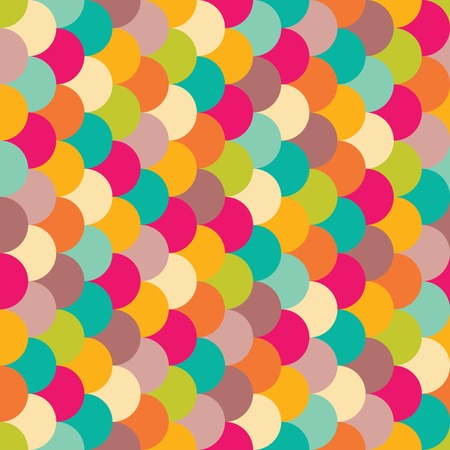 easter background: Vector modern seamless colorful geometry pattern overlapping circles, color abstract geometric background, trendy multicolored print, retro texture, hipster fashion design Illustration
