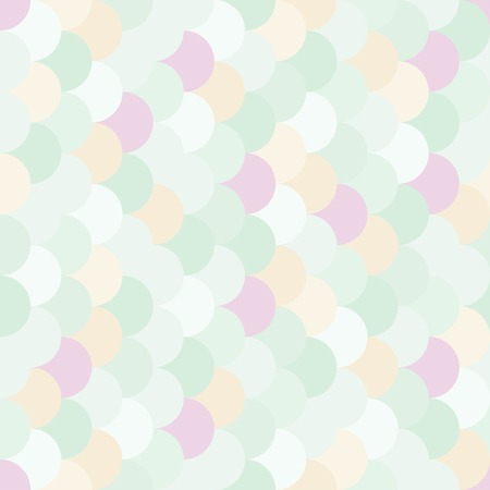Vector modern seamless colorful geometry pattern overlapping circles, color subtle abstract geometric background, trendy multicolored print, retro texture, hipster fashion design Illustration