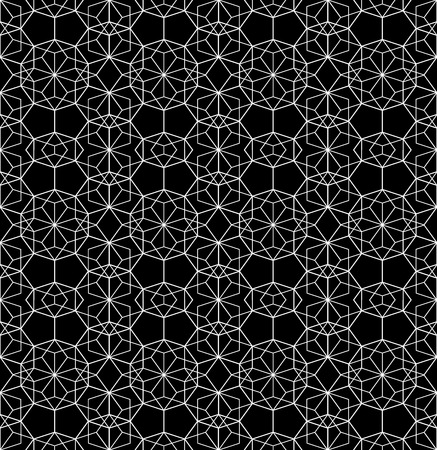 Vector modern seamless geometry pattern web, black and white abstract geometric background, trendy print, monochrome retro texture, hipster fashion design