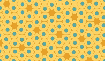 blue cells: Vector modern seamless colorful geometry pattern, cells, color yellow blue abstract geometric background, trendy multicolored print, retro texture, hipster fashion design