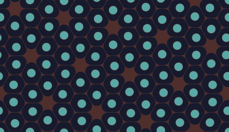 blue cells: Vector modern seamless colorful geometry pattern, cells, color blue brown abstract geometric background, trendy multicolored print, retro texture, hipster fashion design