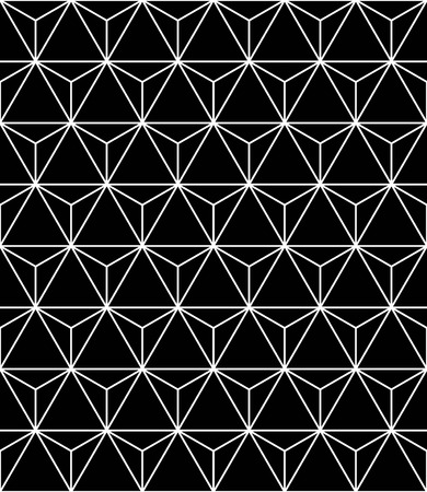 Vector modern seamless sacred geometry pattern, black and white abstract geometric background, trendy print, monochrome retro texture, hipster fashion design Illustration