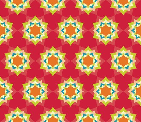 petal: Vector modern seamless colorful geometry petal flower mandala pattern, color red abstract geometric background, trendy multicolored print, retro texture, hipster fashion design Illustration