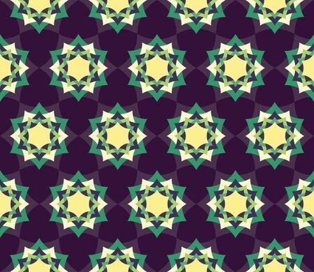 petal: modern seamless colorful geometry petal flower mandala pattern, color blue abstract geometric background Illustration