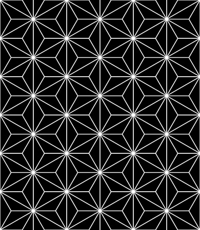 modern seamless sacred geometry pattern, black and white abstract geometric background