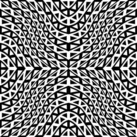 trippy: Vector modern seamless geometry pattern trippy, black and white abstract geometric background, trendy print, monochrome retro texture, hipster fashion design