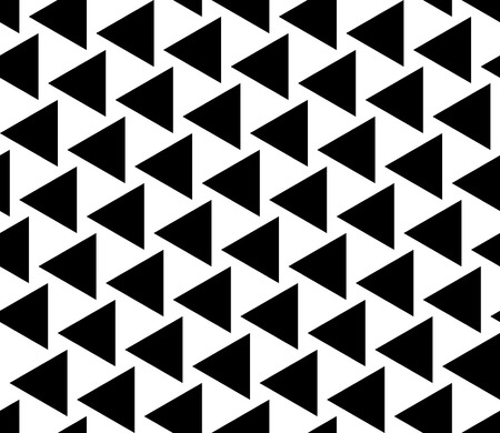 Vector modern seamless geometry pattern triangles, black and white abstract geometric background, trendy print, monochrome retro texture, hipster fashion design