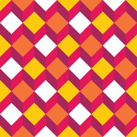 geometra: modelo moderno de colores sin fisuras geometría cuadrada, de fondo geométrico abstracto de color, impresión multicolor de moda, retro textura, diseño de moda del inconformista