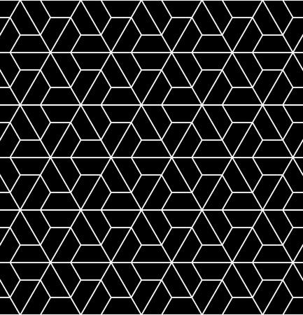 Vector modern naadloos heilig meetkundepatroon, zwart-witte abstracte geometrische achtergrond, trendy druk, zwart-wit retro textuur, hipster manierontwerp Stock Illustratie