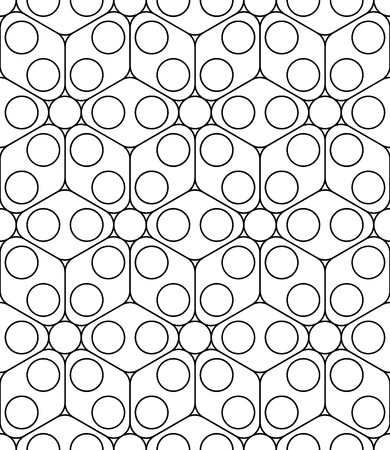 floral decoration: Vector modern seamless sacred geometry pattern, black and white abstract geometric background, pillow print, monochrome retro texture, hipster fashion design