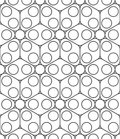 Vector moderne nahtlose heiligen Geometrie-Muster, Schwarz-Weiß-abstrakten geometrischen Hintergrund, Kissendruck, Monochrom Retro Textur, hipster Mode-Design Vektorgrafik