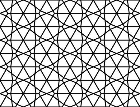 Vector moderne naadloze heilige geometrie patroon, zwart en wit abstract geometrische achtergrond, hoofdkussen afdruk, zwart-wit retro textuur, hipster fashion design