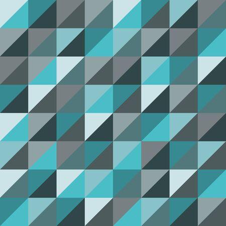 Vector moderne naadloze kleurrijke meetkunde driehoeken patroon, kleur blauw abstract geometrische achtergrond, kussen veelkleurige print, retro textuur, hipster fashion design