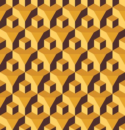 prisma: Vector moderno modelo incons�til colorido cubo geometr�a de prisma, color de fondo abstracto geom�trico, almohada de impresi�n multicolor, retro textura, dise�o de moda del inconformista Vectores